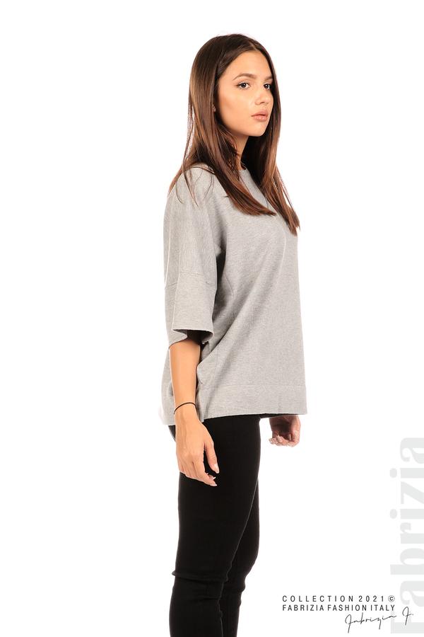 Блуза фино плетиво с аксесоар сив 5 fabrizia