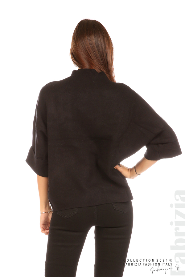 Блуза с мече и 3/4 ръкави черен 6 fabrizia