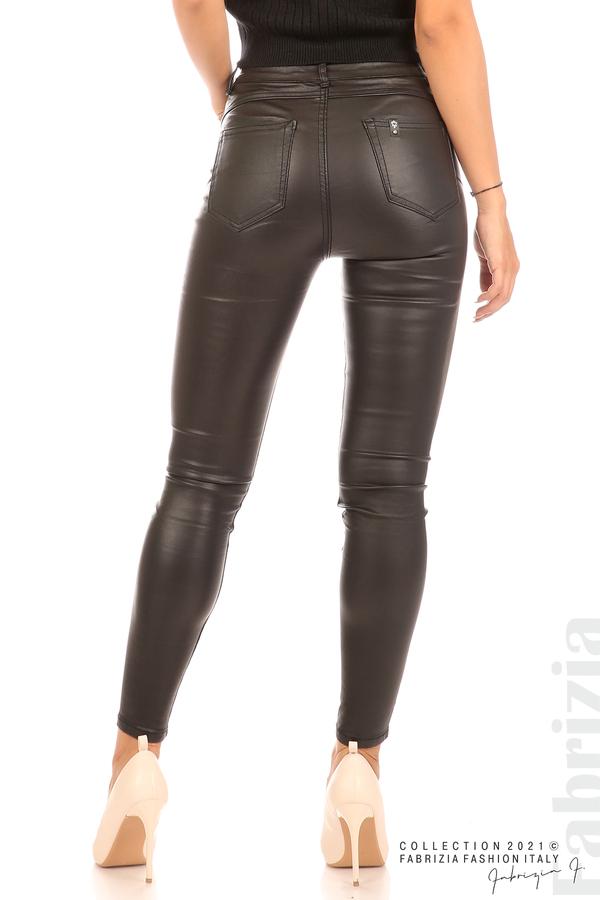 Черен панталон промазка черен 9 fabrizia