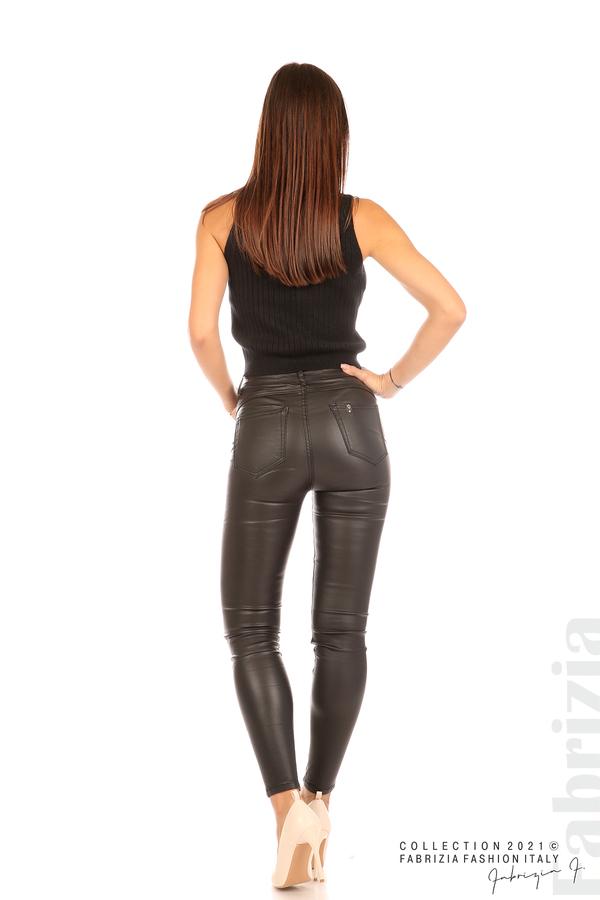 Черен панталон промазка черен 7 fabrizia