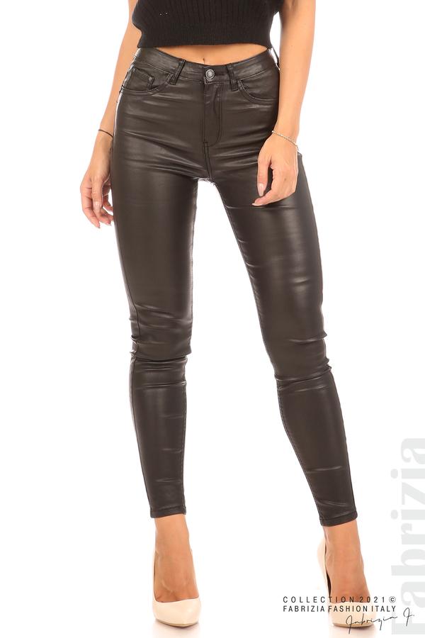 Черен панталон промазка черен 1 fabrizia