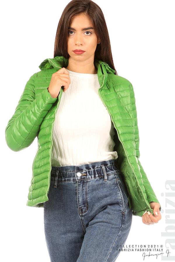 Преходно шушляково яке зелен 2 fabrizia