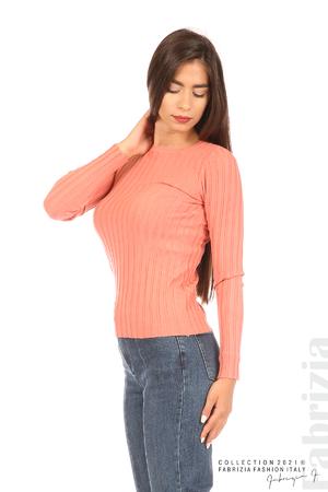 Едноцветна рипсена блуза