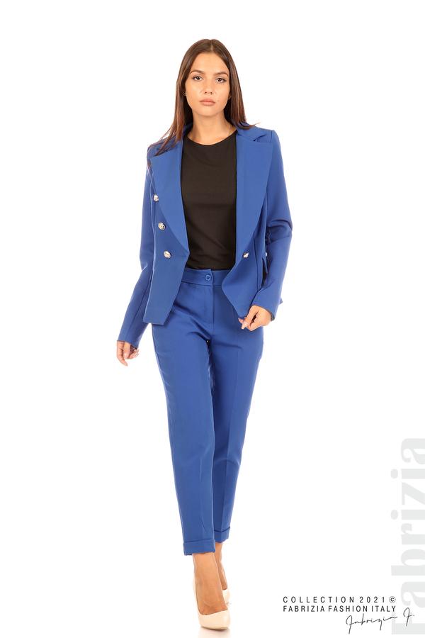 Едноцветно сако с двуредно закопчаване кр.син 3 fabrizia