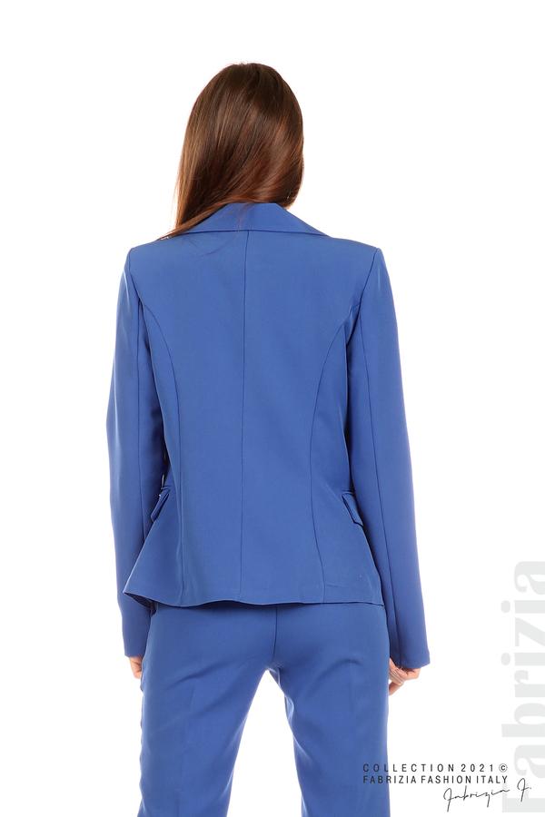 Едноцветно сако с двуредно закопчаване кр.син 6 fabrizia