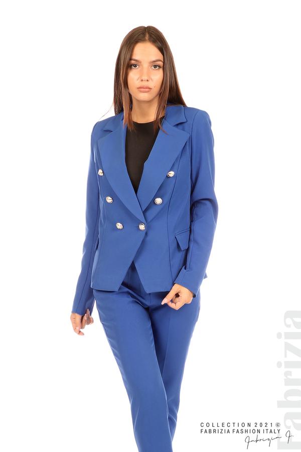 Едноцветно сако с двуредно закопчаване кр.син 4 fabrizia