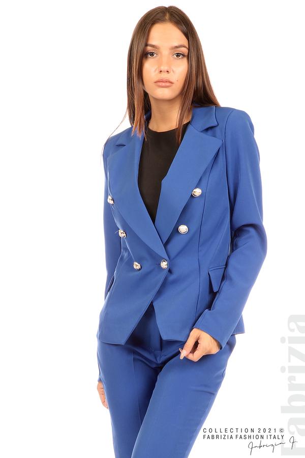 Едноцветно сако с двуредно закопчаване кр.син 5 fabrizia