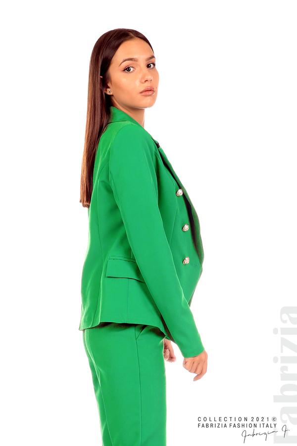 Едноцветно сако с двуредно закопчаване зелен 3 fabrizia