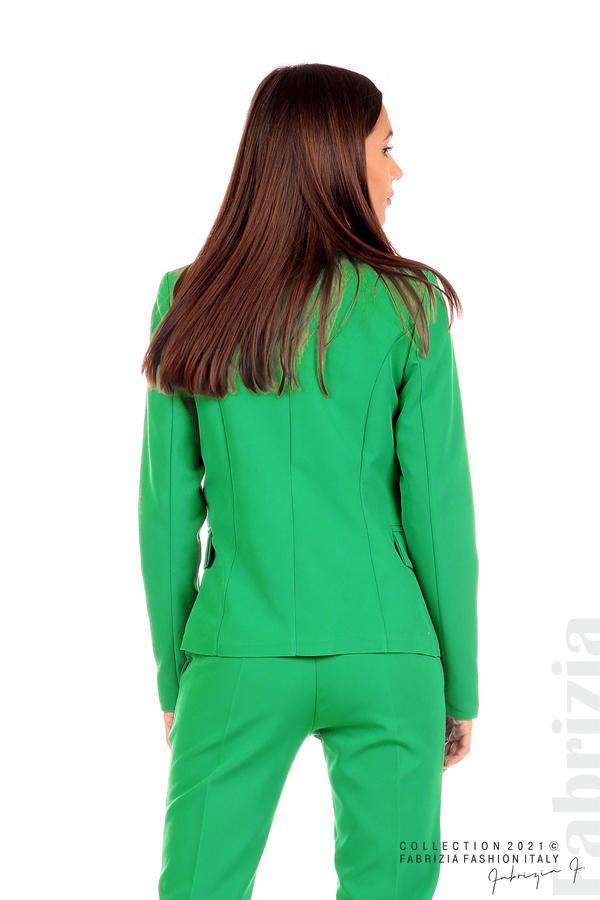 Едноцветно сако с двуредно закопчаване зелен 6 fabrizia