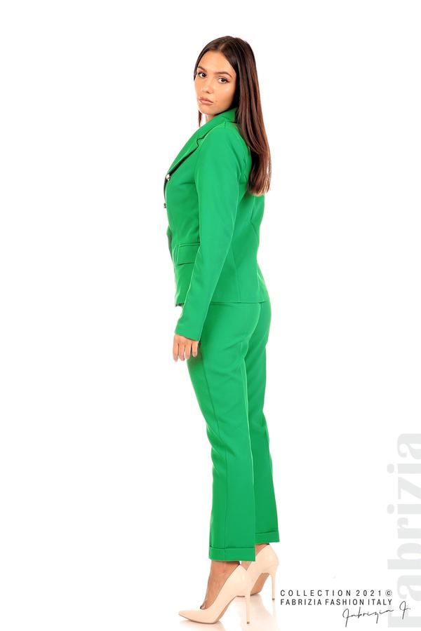 Едноцветно сако с двуредно закопчаване зелен 5 fabrizia