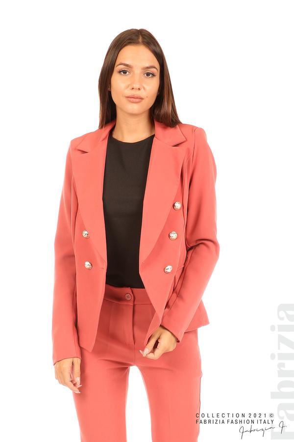 Едноцветно сако с двуредно закопчаване кр.син 1 fabrizia