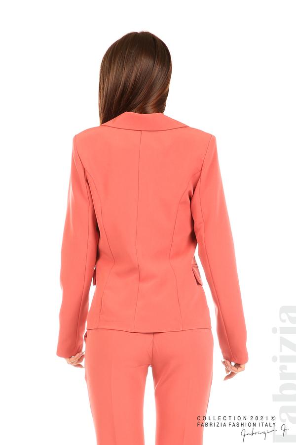 Едноцветно сако с двуредно закопчаване корал 6 fabrizia