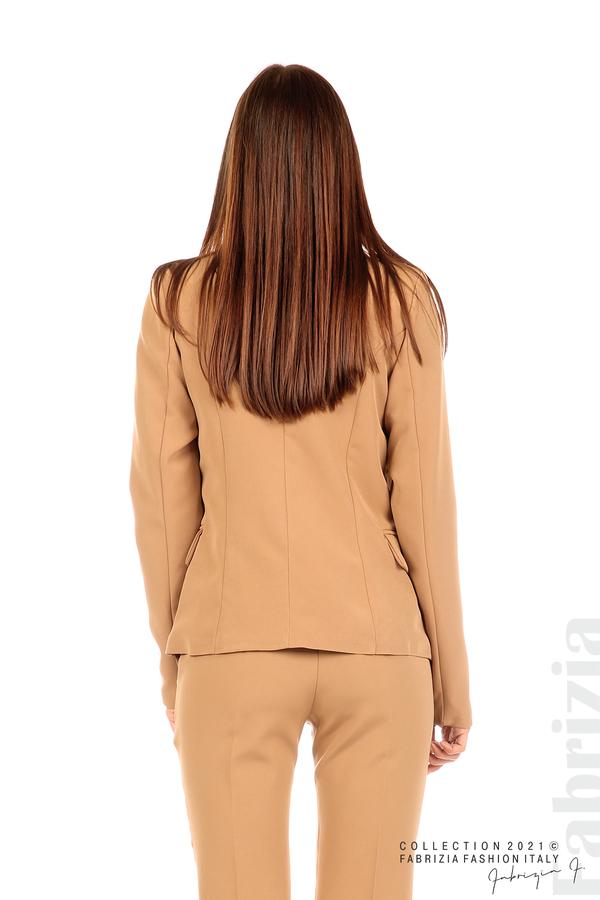 Едноцветно сако с двуредно закопчаване капучино 6 fabrizia