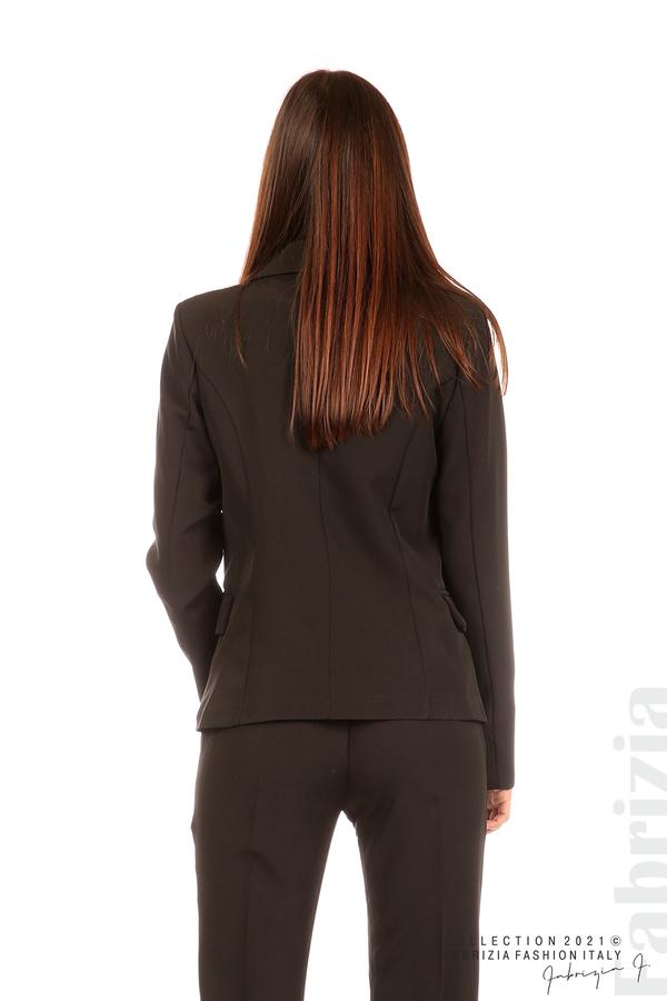 Едноцветно сако с двуредно закопчаване черен 6 fabrizia