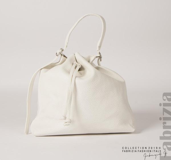 Дамска чанта тип мешка бял 1 fabrizia