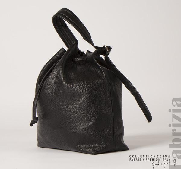 Дамска чанта тип мешка черен 1 fabrizia