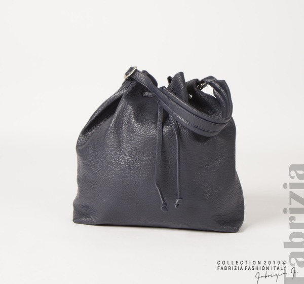 Дамска чанта тип мешка т.син. 1 fabrizia