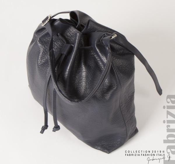 Дамска чанта тип мешка т.син. 2 fabrizia
