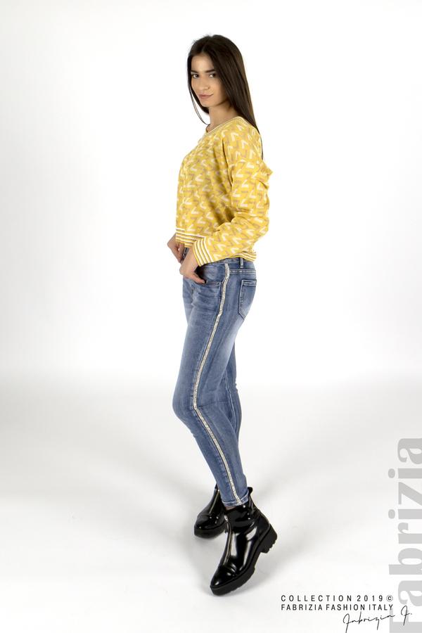 Дамска блуза с двуцветна буква  жълт 2 fabrizia