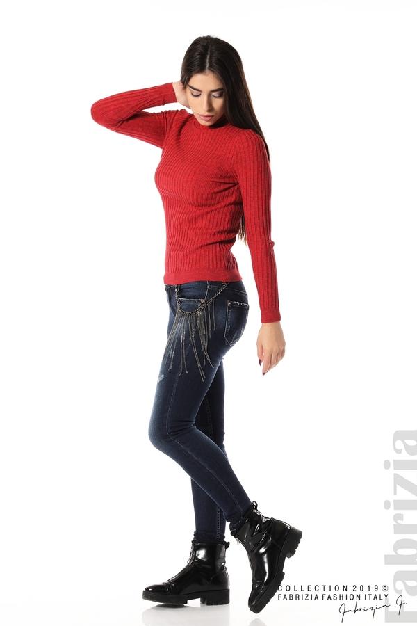 Дамски дънки с метален аксесоар 1 fabrizia