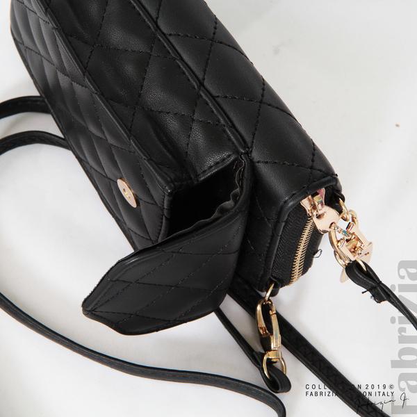 Дамско портмоне с дръжка и страничен джоб  черен 6 fabrizia