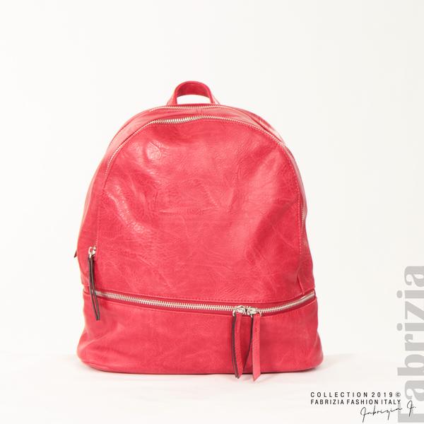 Компактна дамска раница червен 1 fabrizia