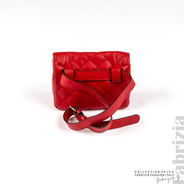 Дамска чанта за носене на кръста червен 2 fabrizia