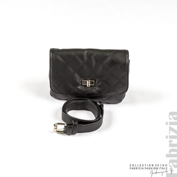 Дамска чанта за носене на кръста черен 1 fabrizia