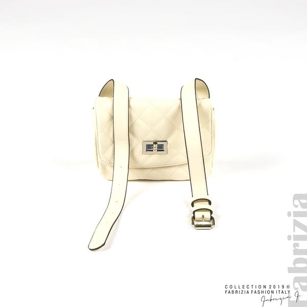 Дамска чанта за носене на кръста св.бежов 1 fabrizia