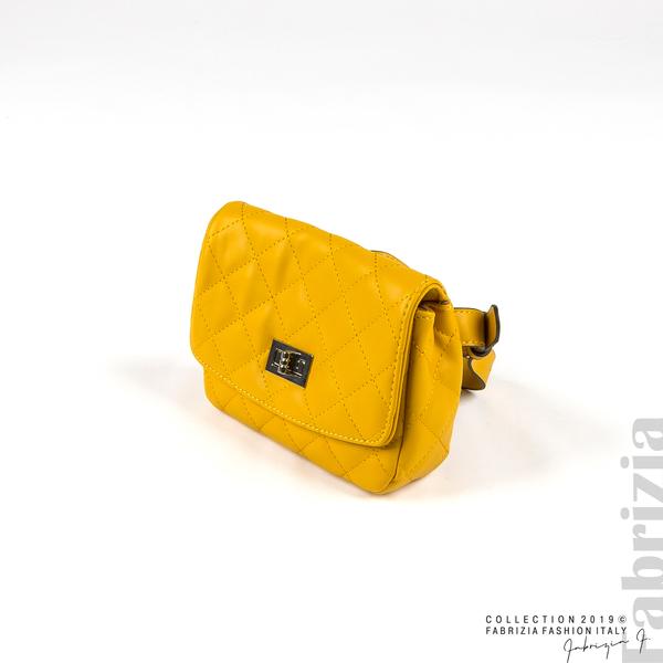 Дамска чанта за носене на кръста жълт 3 fabrizia
