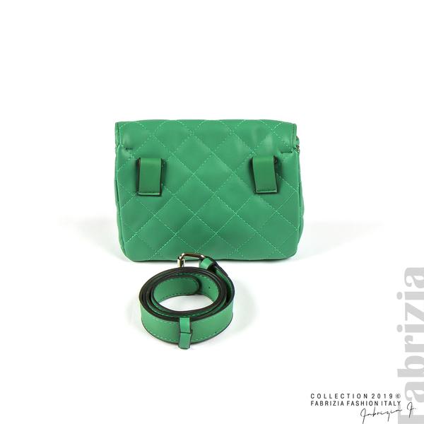 Дамска чанта за носене на кръста зелен 2 fabrizia