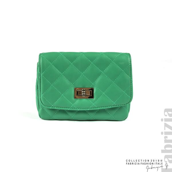 Дамска чанта за носене на кръста зелен 1 fabrizia