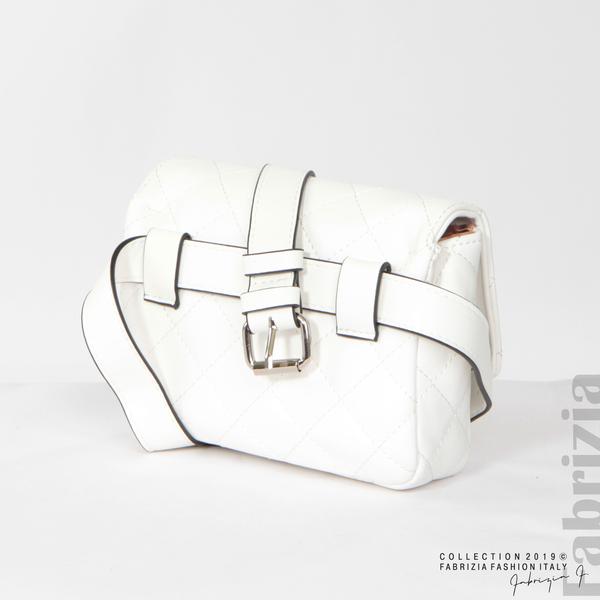 Дамска чанта за носене на кръста бял 5 fabrizia