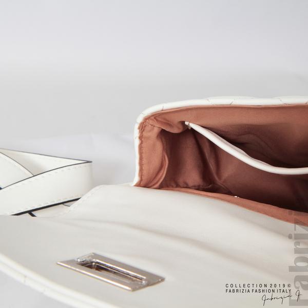 Дамска чанта за носене на кръста бял 6 fabrizia