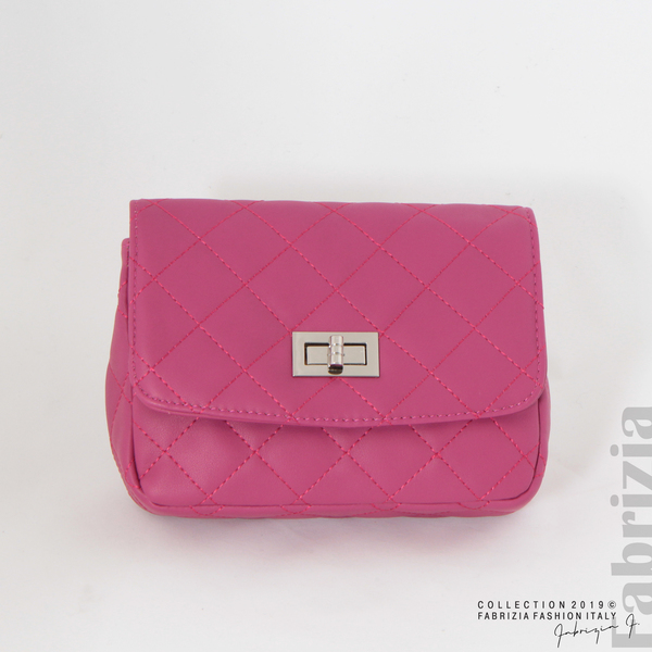 Дамска чанта за носене на кръста циклама 1 fabrizia