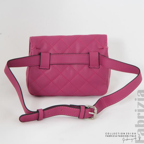 Дамска чанта за носене на кръста циклама 5 fabrizia