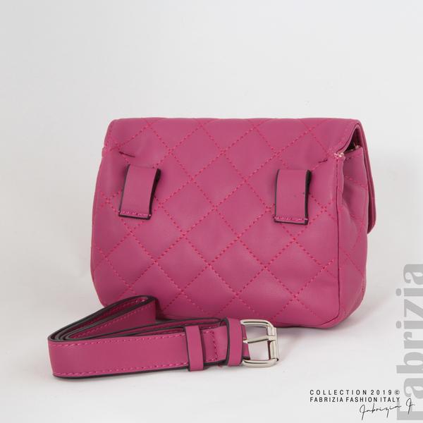 Дамска чанта за носене на кръста циклама 4 fabrizia