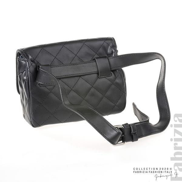 Дамска чанта за носене на кръста черен 3 fabrizia