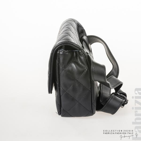 Дамска чанта за носене на кръста черен 2 fabrizia