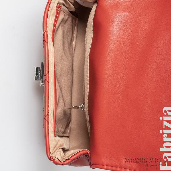 Дамска чанта за носене на кръста червен 4 fabrizia