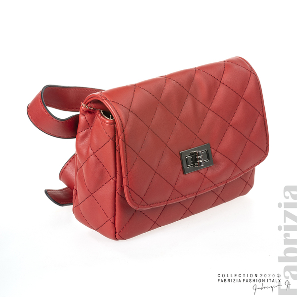 Дамска чанта за носене на кръста червен 1 fabrizia