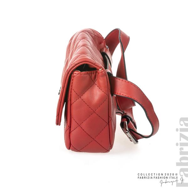 Дамска чанта за носене на кръста червен 3 fabrizia