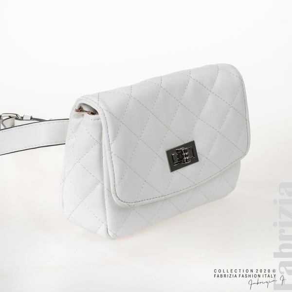 Дамска чанта за носене на кръста бял 2 fabrizia