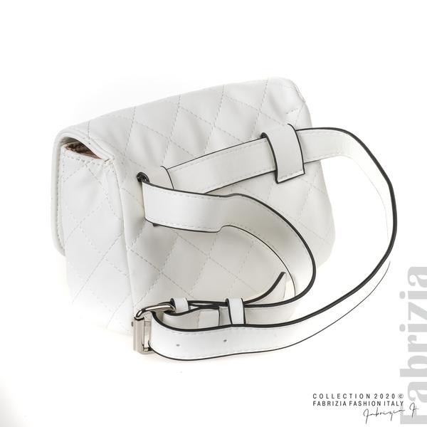 Дамска чанта за носене на кръста бял 3 fabrizia