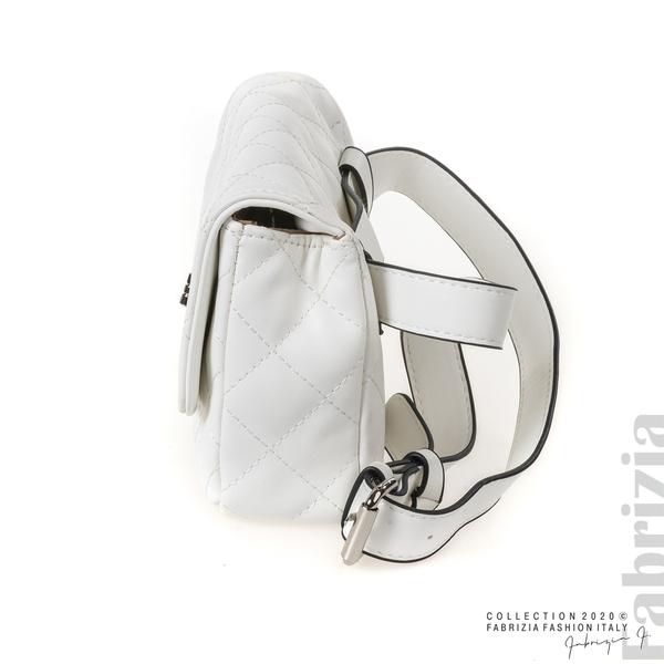 Дамска чанта за носене на кръста бял 4 fabrizia