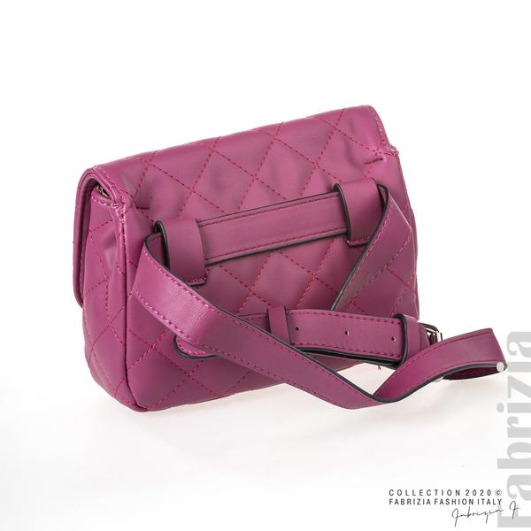 Дамска чанта за носене на кръста циклама 2 fabrizia