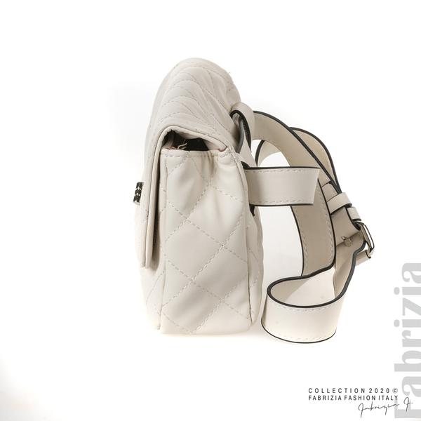 Дамска чанта за носене на кръста св.бежов 3 fabrizia