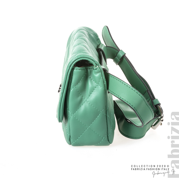 Дамска чанта за носене на кръста зелен 3 fabrizia