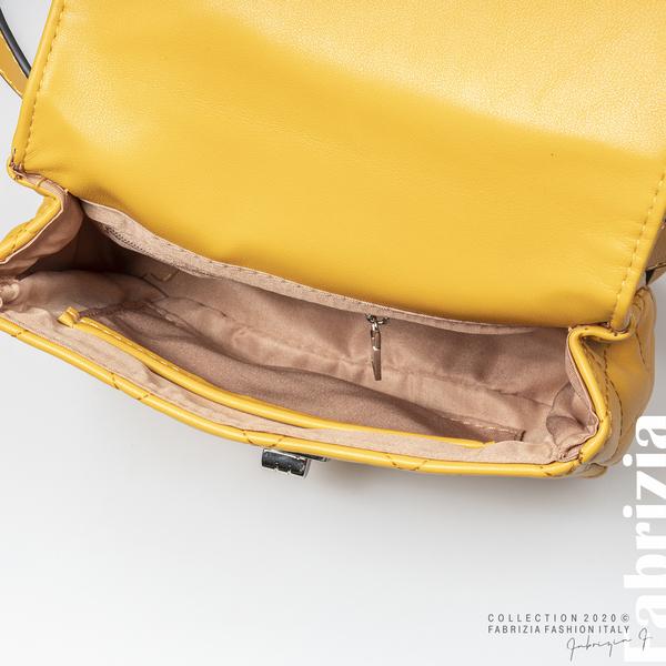 Дамска чанта за носене на кръста жълт 4 fabrizia