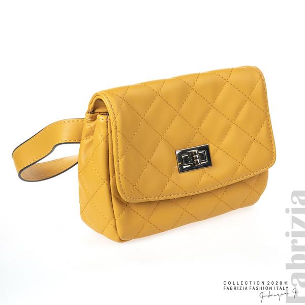 Дамска чанта за носене на кръста жълт 1 fabrizia